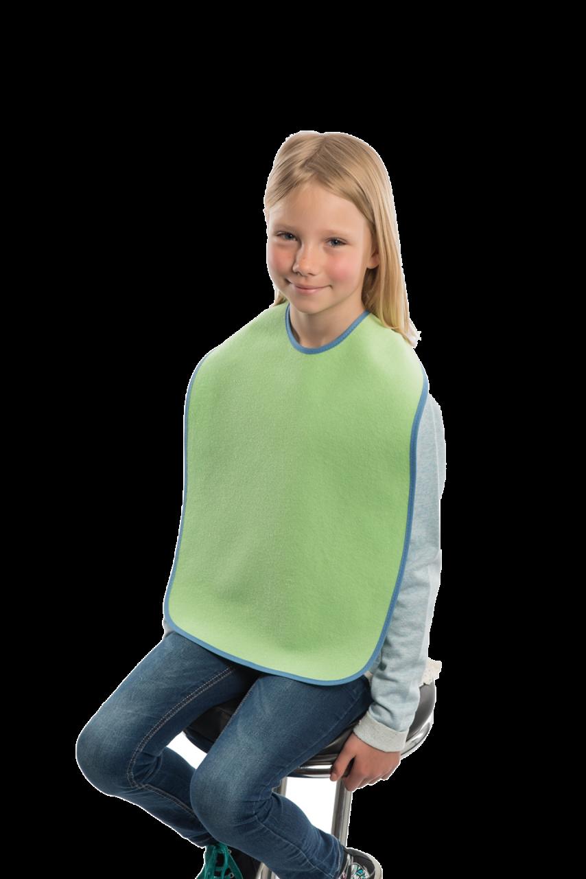 Ess-Schürze für Kinder mit Schlaufenverschluss, grün
