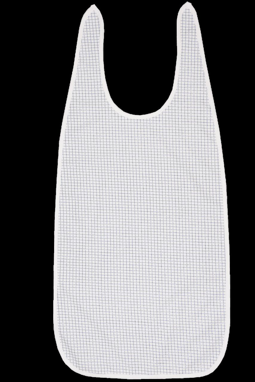 Ess-Schürze mit Schlaufenverschluss, weiß bedruckt